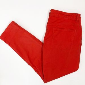 Chico's Slim Ankle Denim Jeans Red 12/31 High Rise
